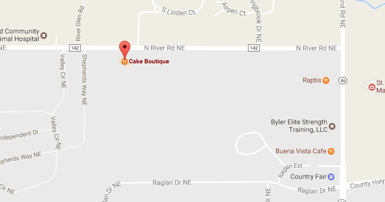 Google Map of Cake Boutique